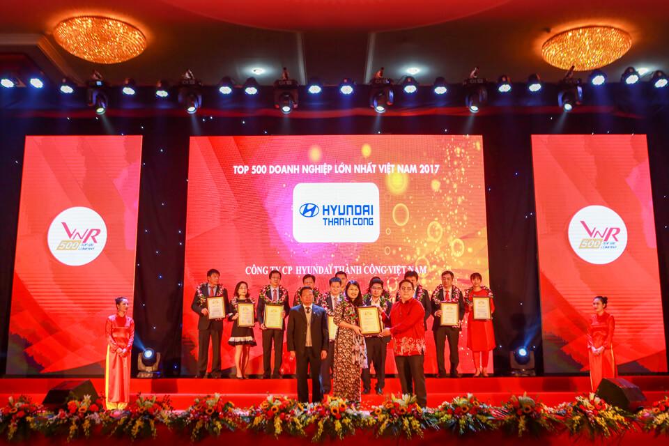 Hyundai Thành Công xếp hạng 20 trong Top 500 Doanh nghiệp tư nhân lớn nhất Việt Nam